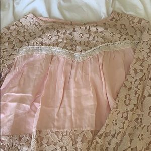 Pink lace long sleeve